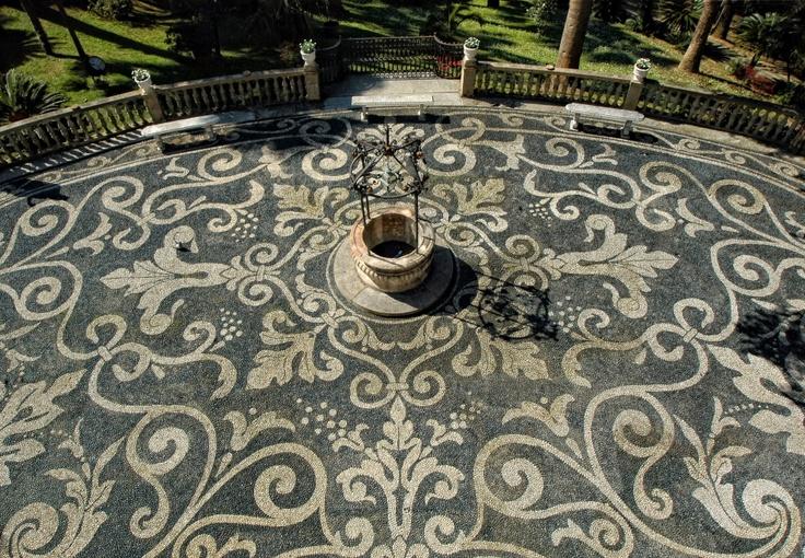 Parco Villa Durazzo, particolare del risseu