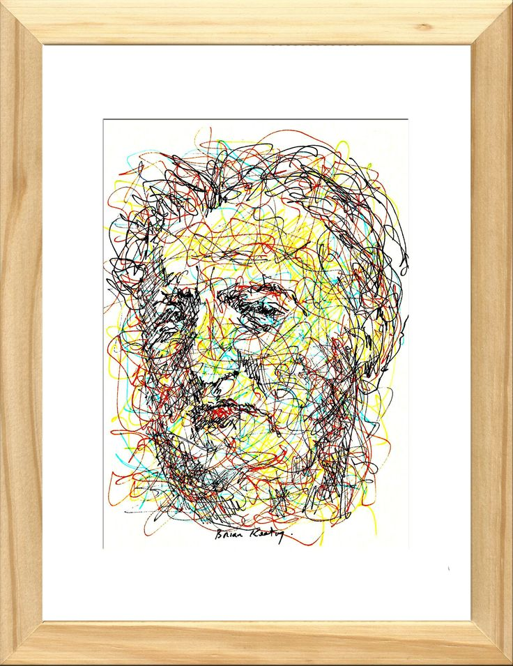 Original impressionistic ink drawing (On cream paper) The drawing is framed in natural wood with a white cardboard mount and glass. Overall frame size: 21 cm. wide X 27 cm. high X 2.8 cm. deep Brendan Francis Aidan Behan was an Irish Republican, poet, short story writer, novelist, and playwright who wrote in both English…