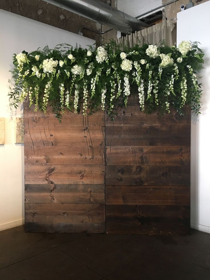 Rustic Wood For A Wedding Ceremony Backdrop Or Step And