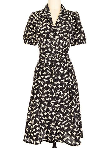 1940s novelty print style dress. All The Pretty Horses Dress $92.00 AT vintagedancer.com