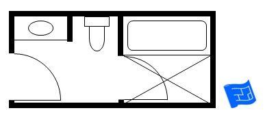 Japanese style small bathroom floor plan including a bath for Bathroom ideas 10x12