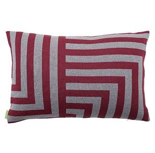 Meta blomme/lysgraa pude / knitted cushion / 100 % wool / made in denmark