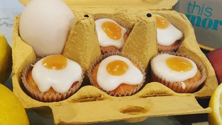 Frances Quinn's fried egg cupcakes
