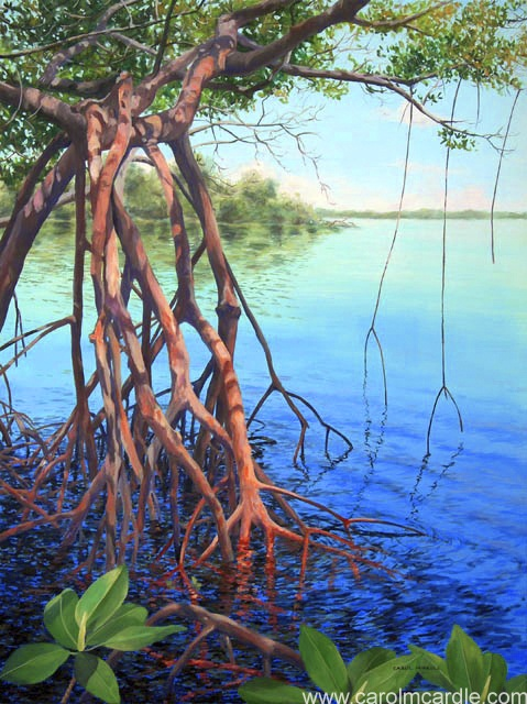 Quot Mangrove Waters Quot Acrylic 40 Quot X 30 Original Painting Sold