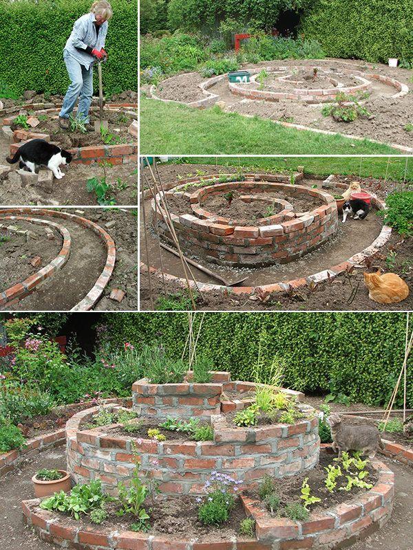 Krauter Spirale Anwenden Anweisungen Lands Cape Gardening Herb Garden Design Herb Garden Herb Garden Pallet