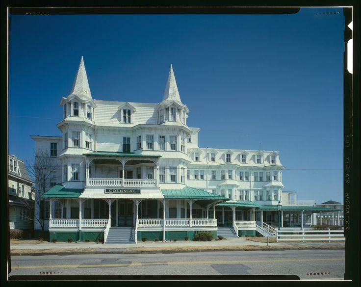 Colonial Hotel, Cape May New Jersey MAIN FACADE.  Good times with my best friend!