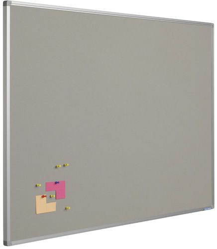 Prikbord bulletin | Grijs | 90 x 120 cm kopen? | Heutink.nl
