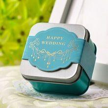 Romantique boîte cadeau de mariage élégant bleu violet fer blanc décoration de mariage de luxe de mariée mariée parti bonbons faveurs de mariage boîte(China (Mainland))