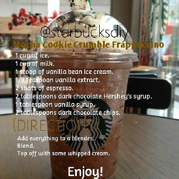 Starbucks Mocha Cookie Crumble Tumblr