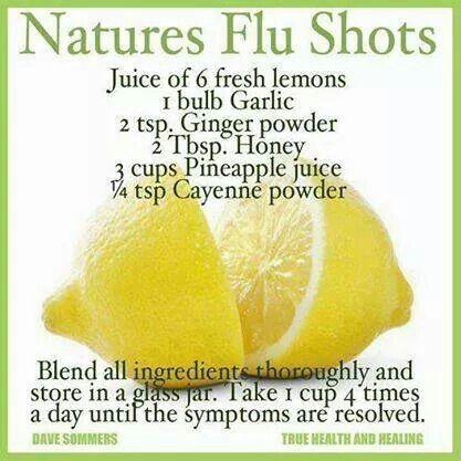 Home remedy for flu symptoms