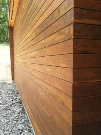 Climate Shield rainscreen siding profile for Ipe wood siding  Oh - that's gorgeous!