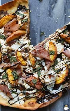 This peach prosciutt This peach prosciutto pizza recipe is a...  This peach prosciutt This peach prosciutto pizza recipe is a must-try this summer. The flavors of the peaches and prosciutto provide the perfect sweet and savory combination and the addition of cheese and balsamic reduction will keep you going back for more slices! Recipe : http://ift.tt/1hGiZgA And @ItsNutella  http://ift.tt/2v8iUYW