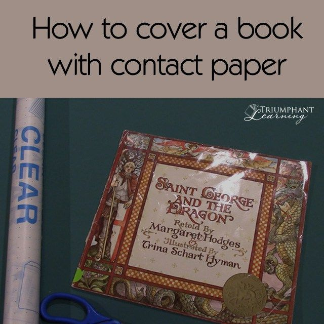 How To Cover A Book With Contact Paper All Year Round Books