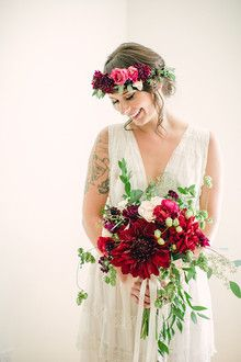 Fuchsia Dahlia Bouquet  – Wedding Bouquets
