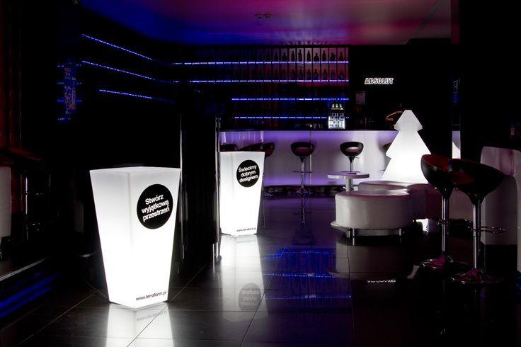 Pomysł na Sylwestra 2016/2017 - podświetlane donice | light flower pot and design decor by terraform