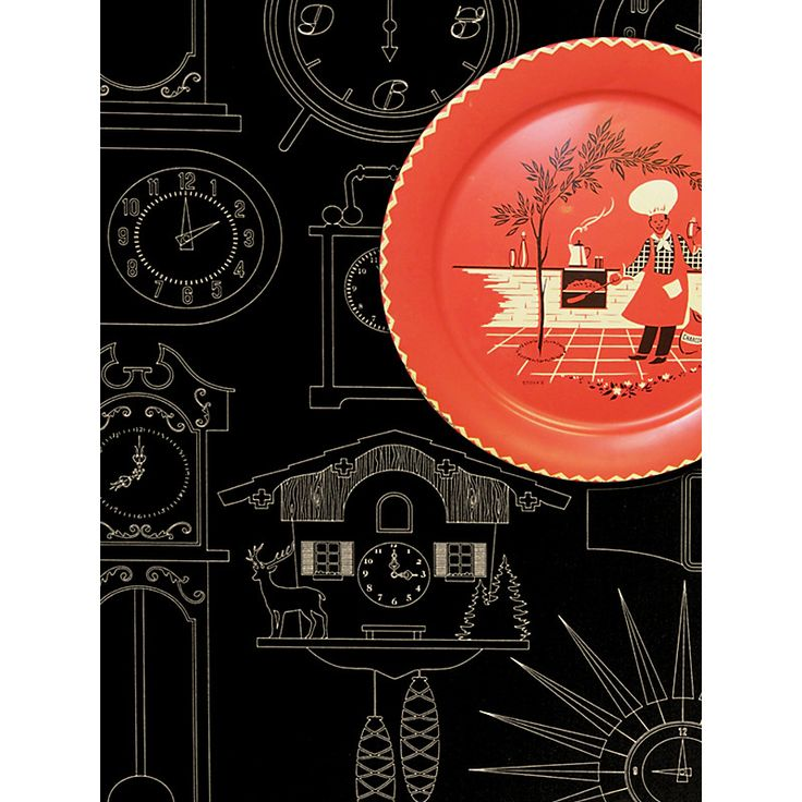 Buy Mini Moderns Tick Tock Wallpaper | John Lewis