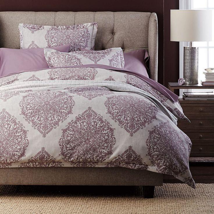 Wrinkle Free Duvet Cover With Leafy Medallions Depicted In Elaborate  Detail. Duvet Cover Is Woven Of 300 Thread Count Wrinkle Free Sateen. The  Company Store