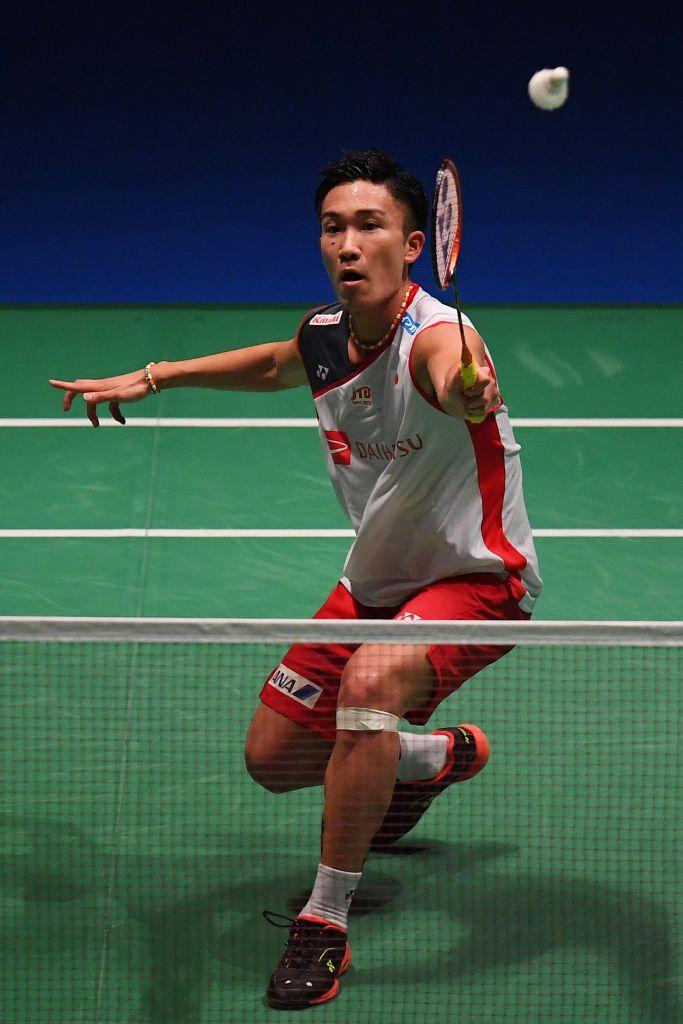 Chofu Japan September 14 Kento Momota Of Japan Competes In The Men S Singles Quater Final Match Against Lin Dan Of C Badminton Match Sport Player Badminton