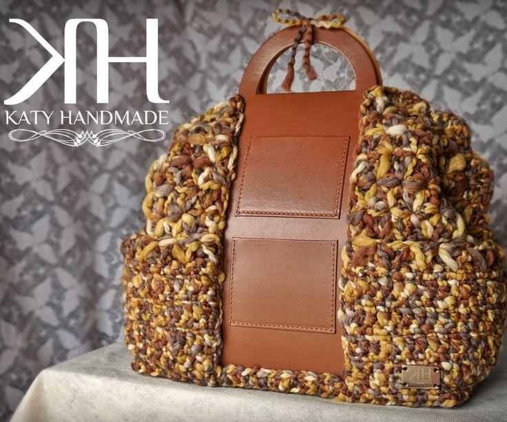 "Maxi bag crochet ""Mèlange"" | Star stitch"