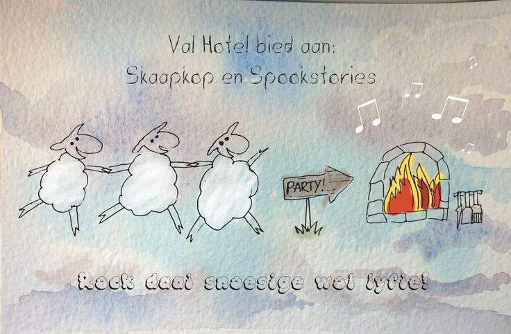Skaapkop en Spookstories at Val Hotel!