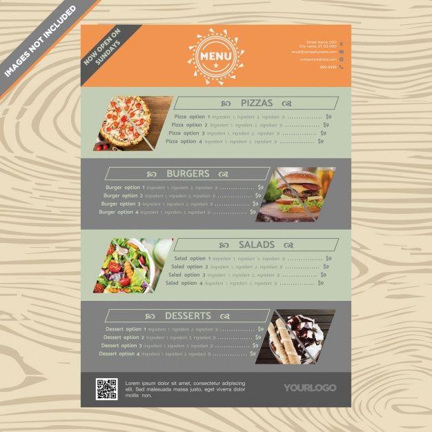 FREE DOWNLOAD restaurant menu