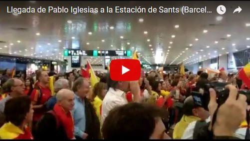 Pueblo unido corrió al chavista Pablo Iglesias del aeropuerto en Barcelona