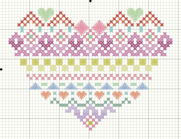 Pastel Heart Sampler for January | Embroiderbee's Primary Hive