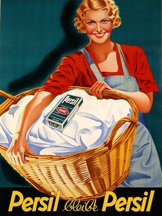 Persil Soap on Laundry Day ~ Vintage Advert Poster Ad