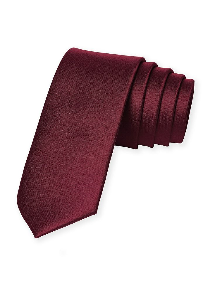 Dessy's woven neck ties make for great groomsmen gifts! The matte satin ties color coordinate perfectly with our Dessy, After Six and Lela Rose bridesmaid dresses. - Color: Burgundy - Width: 2 ½ inche