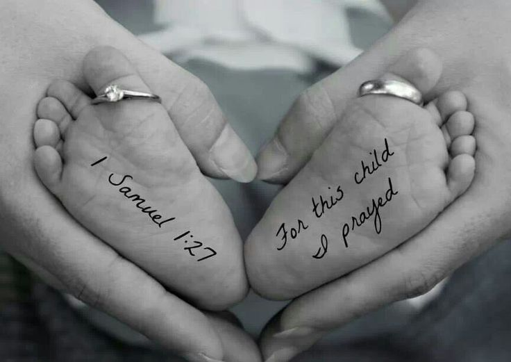 For the future. Very cute without the writing- the rings and the baby's feet.