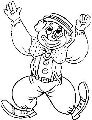 Coloring pages for kids to print - Clowns and circus coloring page/clown-coloring-pages-76