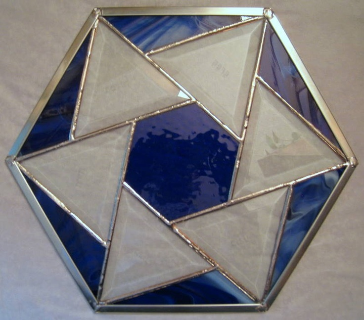 Passover Seder Plate Stained Glass Etched by StainedGlassGalaxy