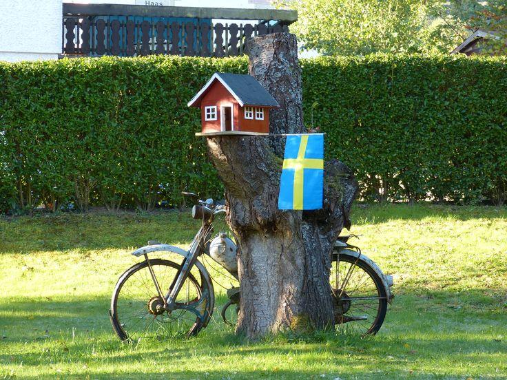 Schweden Vogelhaus aus Resten Bauanleitung zum selber bauen