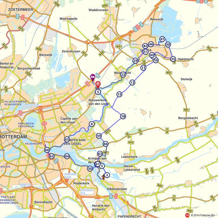 Fietsroute: Langs de Hollandsche IJssel naar Gouda en Kinderdijk (http://www.route.nl/fietsroutes/144214/Langs-de-Hollandsche-IJssel-naar-Gouda-en-Kinderdijk/)