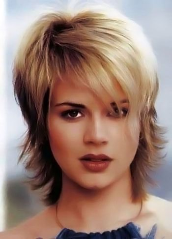 Gallery of short flicked hairstyles. Pictures. 84 out of 120 in this section.