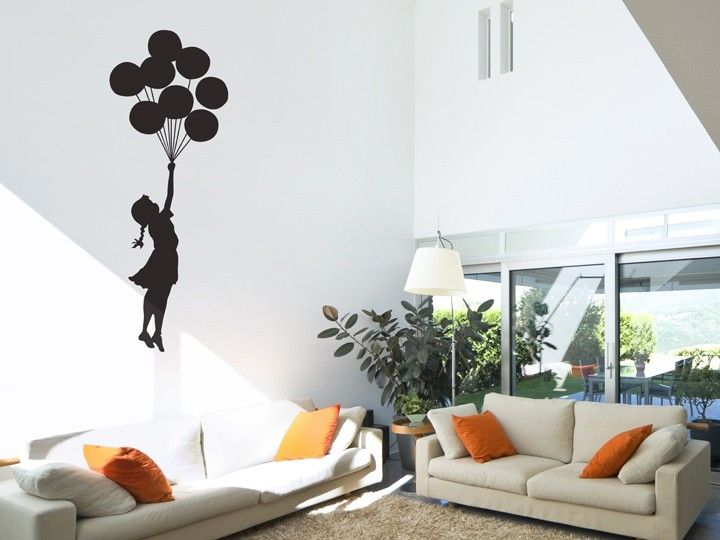This Floating Balloon wall sticker is inspired by the work of British graffiti artist Banksy. This design has been described as the 'graffiti of freedom and escape' and will help you feel liberated from the stress and worries of everyday life. Capturing the joys of childhood innocence, this wall sticker is perfect for expressing your playfulness and nonconformity.