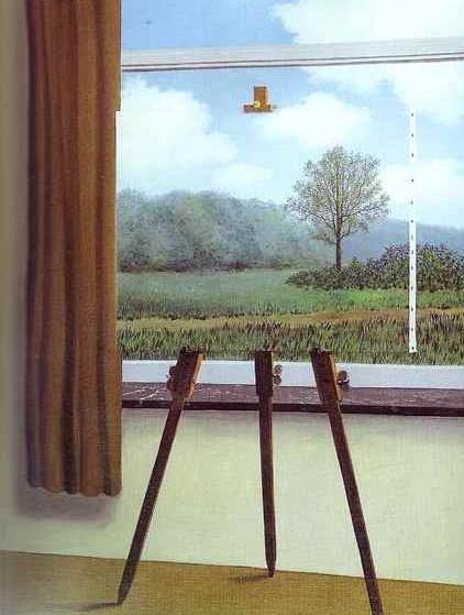 ルネ・マグリット 「人間の条件」 Rene' Magritte: La Condition Humaine, 1933 部分