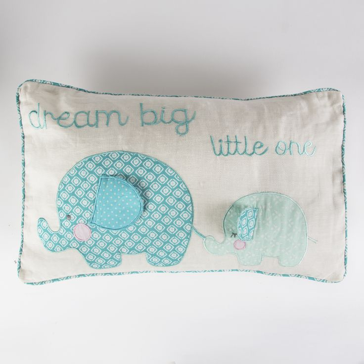 This beautiful Elliot Elephant Cushion in Blue is a lovely gift for a young child also in Pink