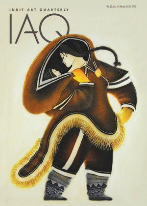 """Germaine Arnaktauyok """"Precious Moment"""" (2005), Cover Image for Inuit Art Quarterly http://www.inuitart.org/magazine/"""