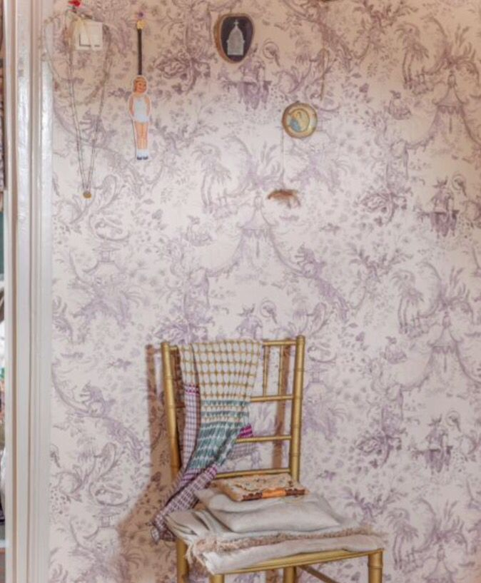 "This romantic wallpaper is from our feature ""Crowded House"""