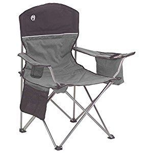 Amazon.com : Coleman Cooler Quad Chair Gray/Black : Camping Chairs : Sports & Outdoors