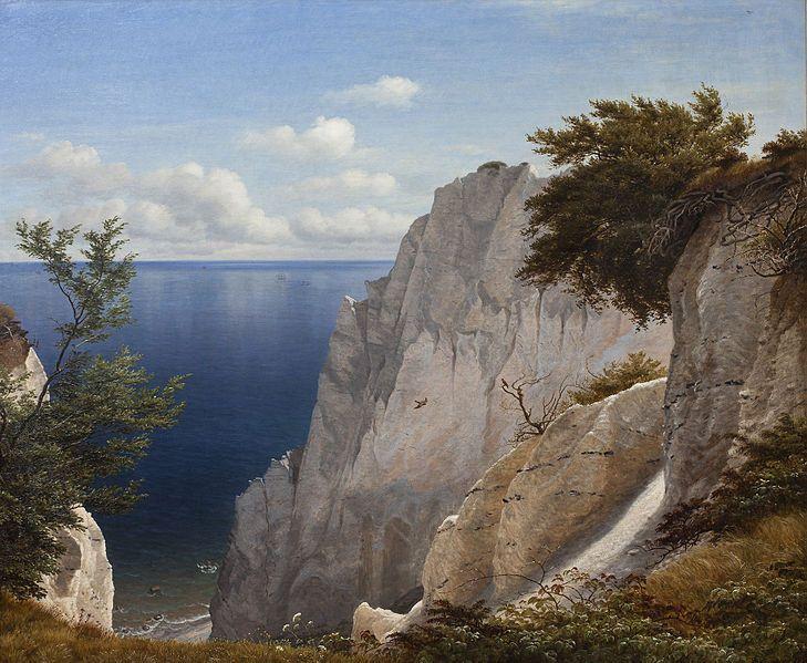 P.C. Skovgaard (1817-1875): Painting from the Cliffs of Møn, Denmark, 1851