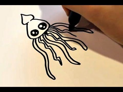 How to Draw a Cartoon Squid