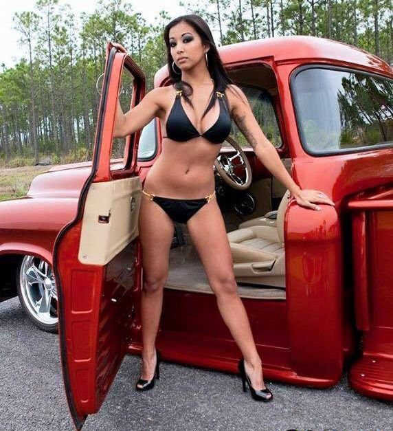 Classic trucks and hot girls