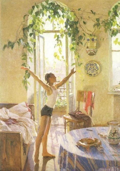 Татьяна Яблонская Утро 1954