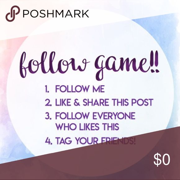 FOLLOW GAME  Time For A Follow Game. The Rules Are Super