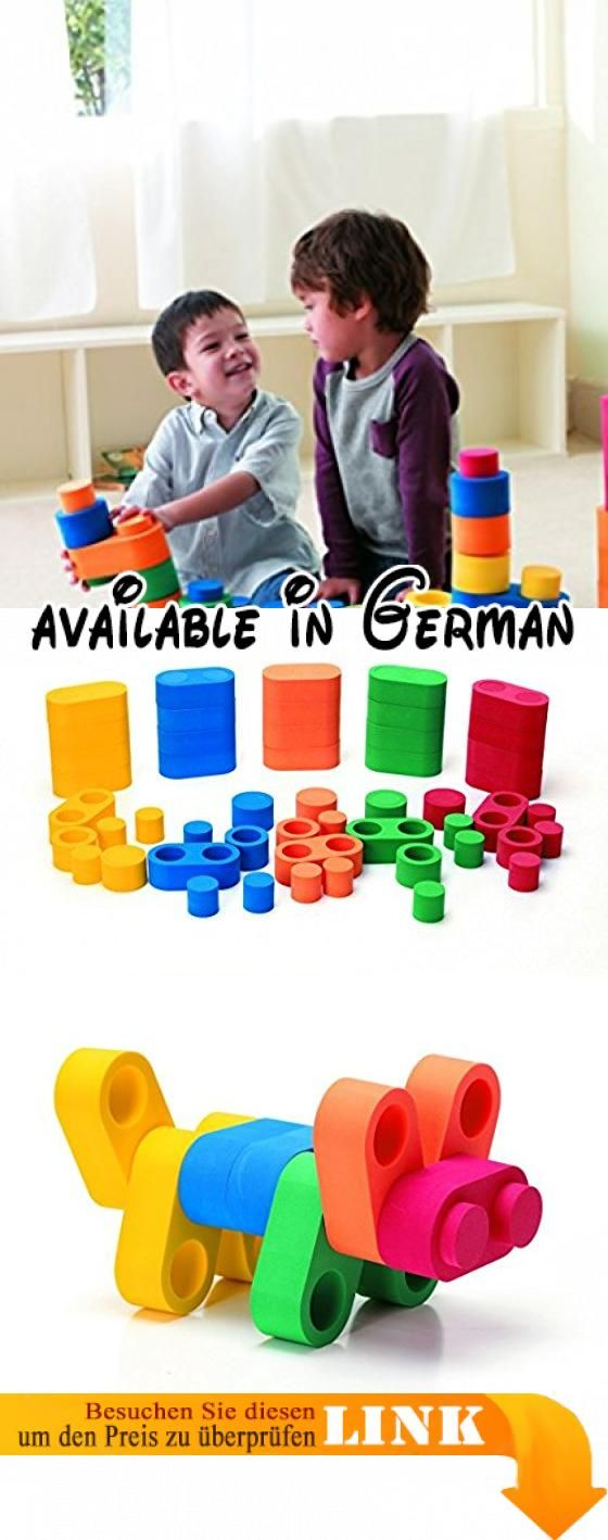 Linkits Bauelemente / Inhalt: 25 Doppelbausteine + 10 Einzelbausteine + 60 Innenstopfen / Material: EVA-Schaum / für Kinder ab 2 Jahren. Verschiedene Modelle mit gefüllter Säule und hohlen Kreisen. Hilft Kindern Kreativität zu entwickeln und Fantasie auszuleben. Umsetzung von 2D & 3D Konzeptem möglich stabilisiert die Handmuskeln. Interesse die verschiedenen geometrischen Formen zu entdecken wird geweckt. Material: EVA Schaum Farbe: blau, grün, gelb, orange + rot #Toy