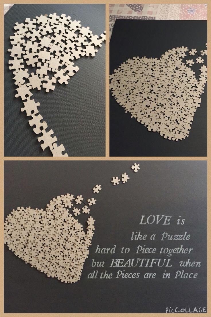 Gemakkelijk te maken met puzzelstukjes