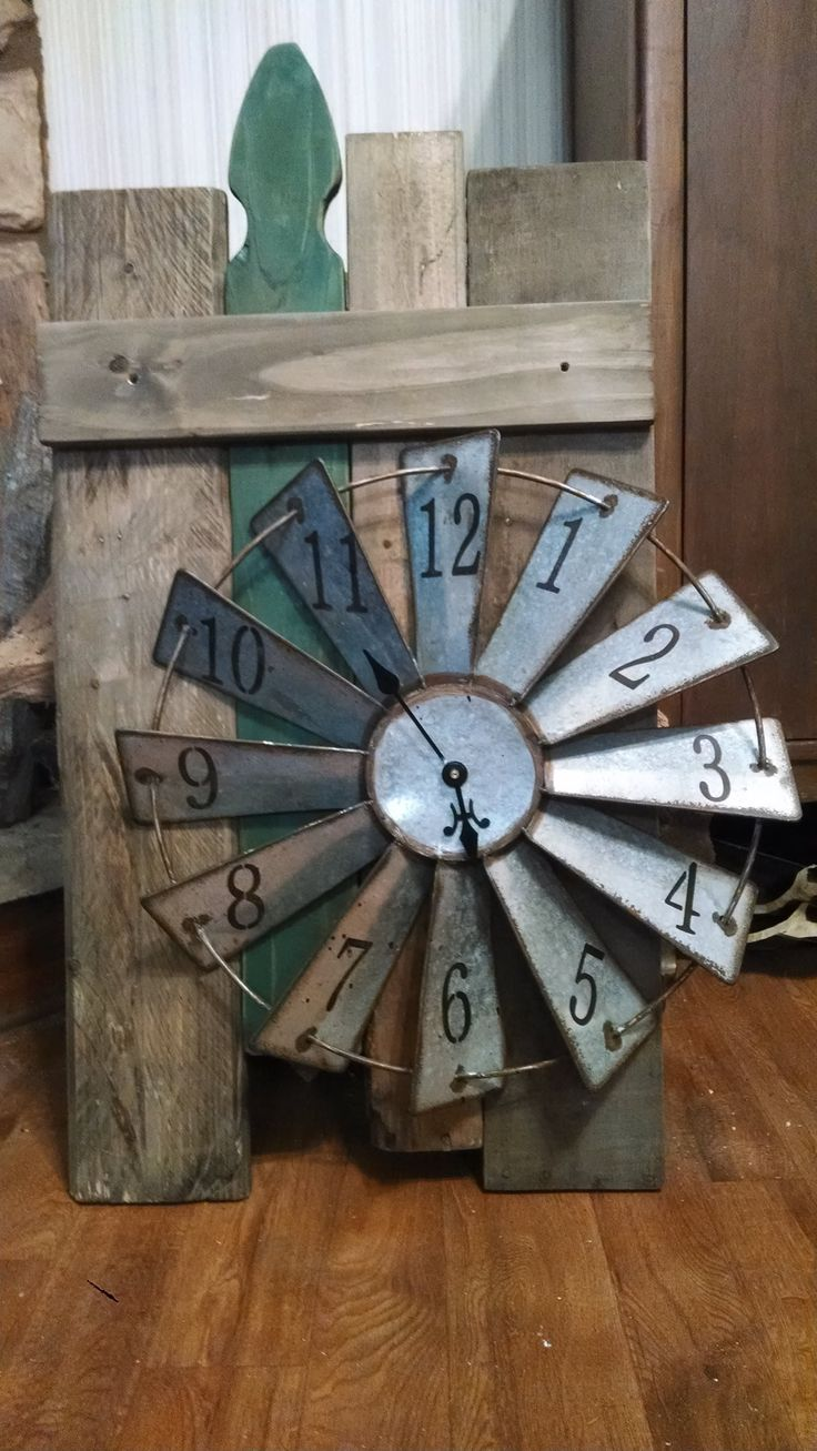 144 best windmill art images on pinterest windmill decor recycled pallet woodfencing and a working clock on the blades of the windmills still amipublicfo Images