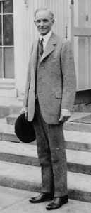 Henry Ford..Inventor of the Model T and founder of the Ford Motor Company...